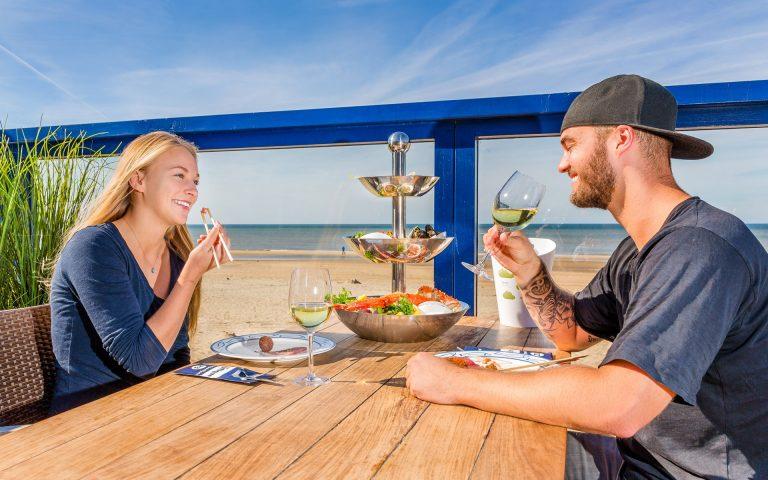 Bedrijfsfotografie van een terras van een strandpaviljoen