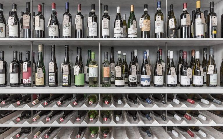 Bedrijfsfotografie van een wijnwinkel