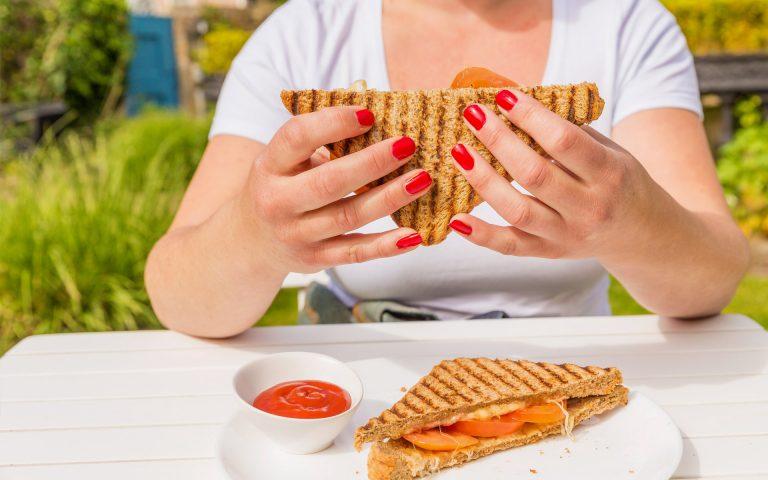 Bedrijfsfotografie van een tosti