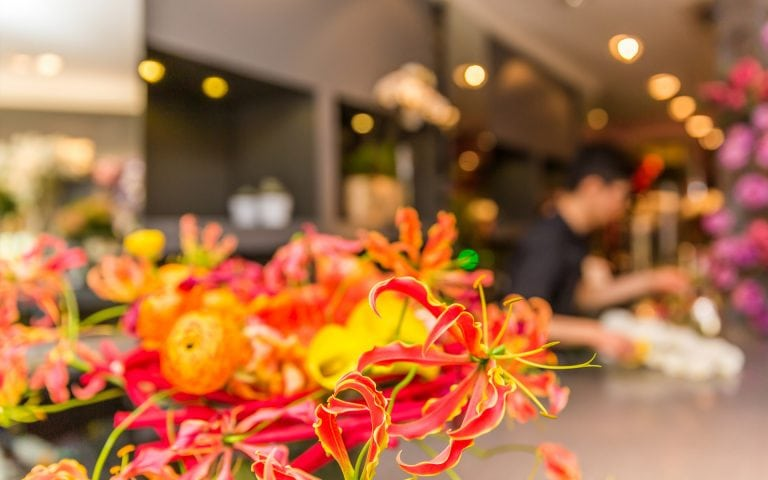 Bedrijfsfotografie van een bloemenwinkel