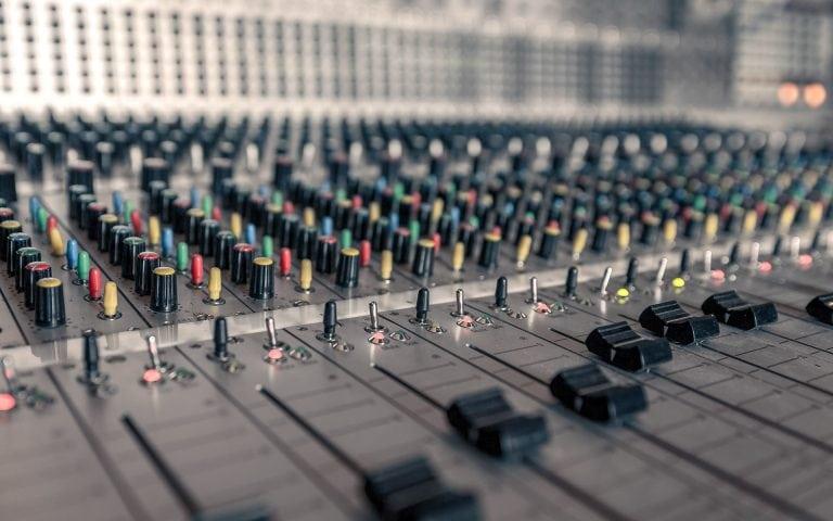 Bedrijfsfotografie van een opname studio