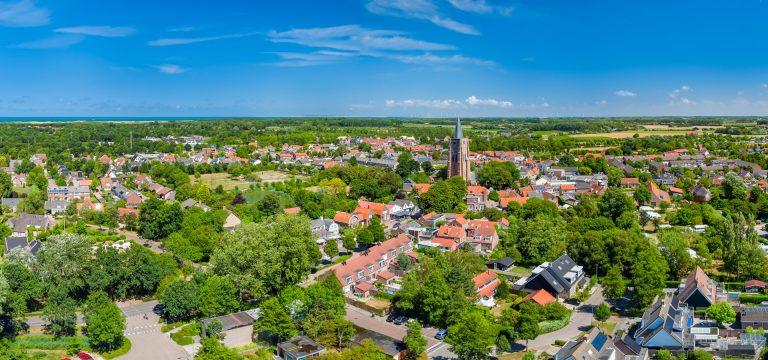 drone foto van Oostkapelle