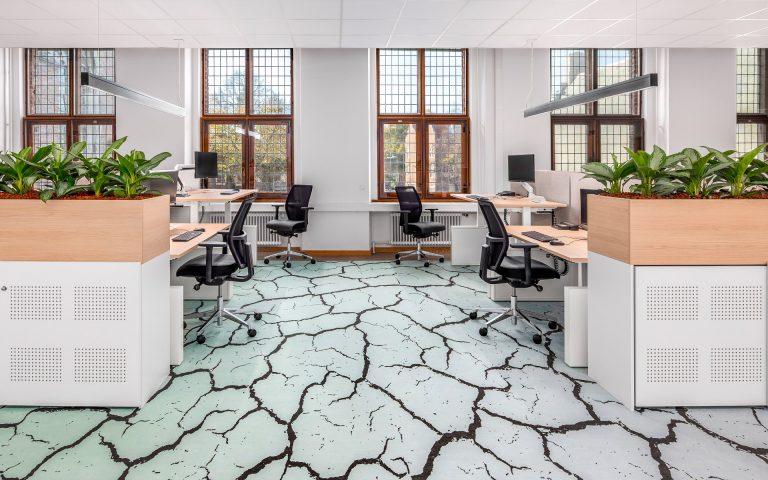 Interieurfoto van een kantoor
