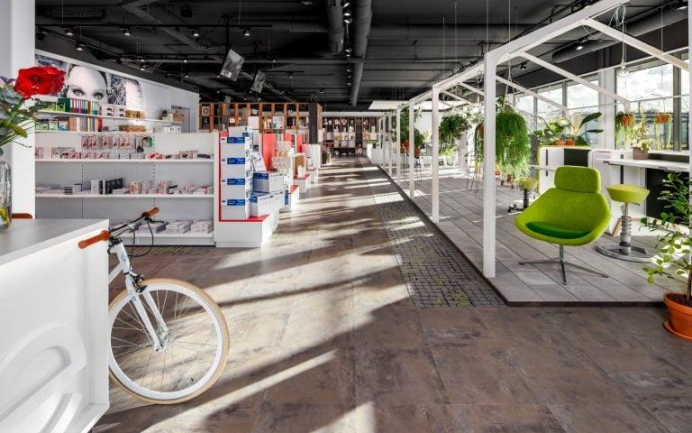Interieurfoto van een showroom
