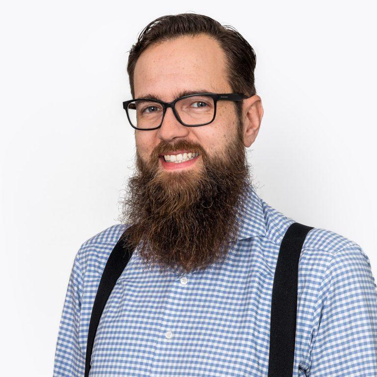 Portret foto van een man met een baard